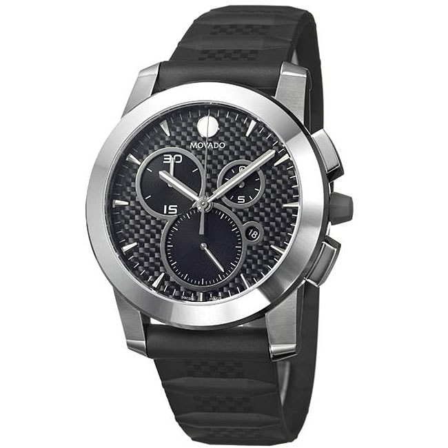 Movado Men's 'Vizio' Rubber Strap Watch