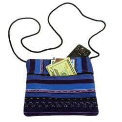 Guatemalan Artisan Purple Woven Ladies' San Juan Weekend Bag