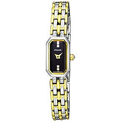Pulsar Women's Crystal Stainless Steel and Goldplated Watch
