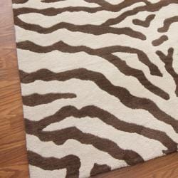nuLOOM Zebra Animal Pattern Wool Rug (5' x 8')