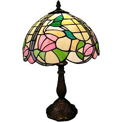 Tiffany-style Hummingbird Table Lamp