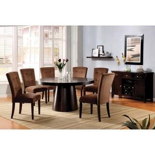 Furniture of America Amari Velvet 7-piece Dining Furniture Set