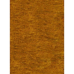 Hand-knotted Vegetable Dye Solo Carmel Hemp Rug (4' x 6')