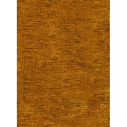 Hand-knotted Vegetable Dye Solo Carmel Hemp Rug (6' x 9')
