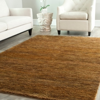 Safavieh Hand-knotted Vegetable Dye Solo Carmel Hemp Rug (8' x 10')