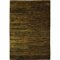 Safavieh Hand-knotted Vegetable Dye Solo Green Hemp Rug (6' x 9')