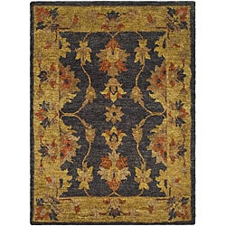 Hand-knotted Heirloom Charcoal Jute Rug (8' x 10')