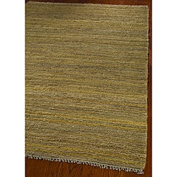 Hand-knotted All-Natural Horizons Gold Hemp Rug (5' x 8')