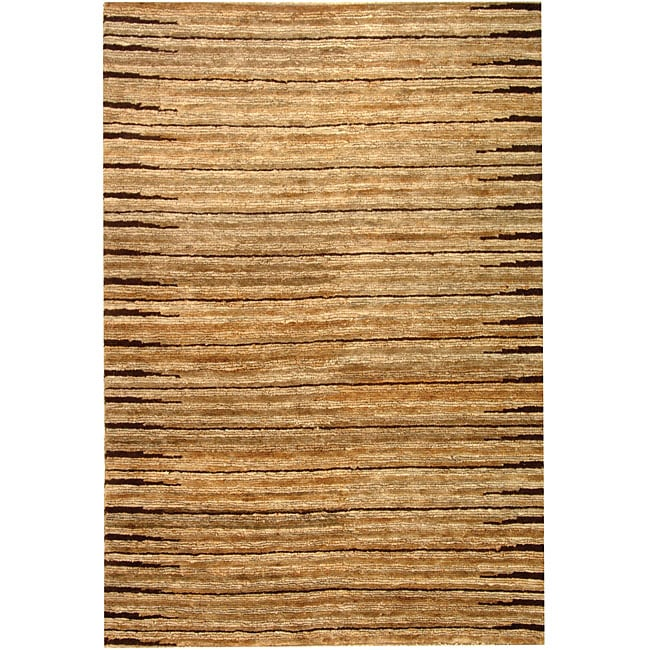 Safavieh Hand-knotted All-Natural Fields Beige Hemp Rug (4' x 6')