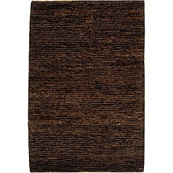 Hand-knotted All-Natural Earth Brown Hemp Rug (9' x 12')