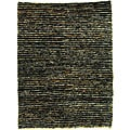 Safavieh Hand-knotted All-Natural Charcoal Grey Hemp Runner (2'6 x 12')