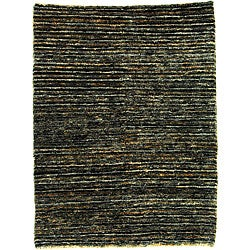 Hand-knotted All-Natural Charcoal Grey Hemp Runner (2'6 x 8')