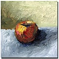 Calkins 'Apple Still Life with Grey and Olive' Gallery-wrapped Art