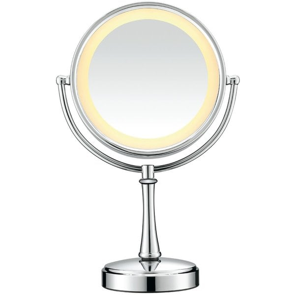 Conair Polished Chrome Touch Control Lighted Makeup Mirror
