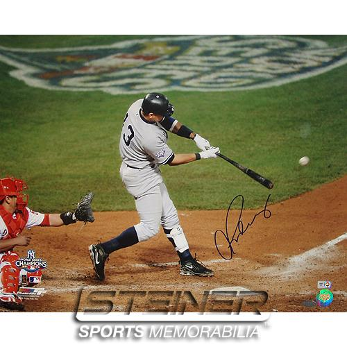 New York Yankees Alex Rodriguez '09 World Series Game 4 Signed 16x20 Photo