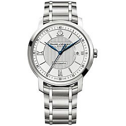 Baume & Mercier Men's Classima Executive Silver Guilloche Dial Watch