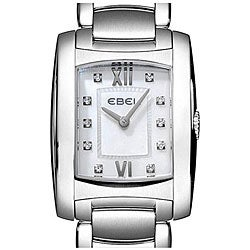 Ebel Women's Brasilia Stainless Steel Case Diamond Watch