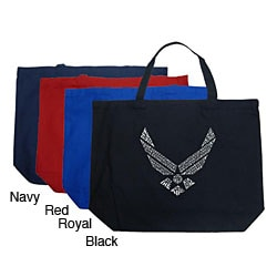 Los Angeles Pop Art Air Force Large Shopping Tote