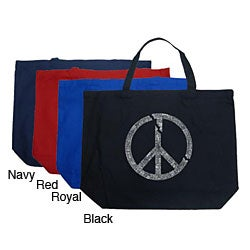 Los Angeles Pop Art Broken Peace Large Shopping Tote