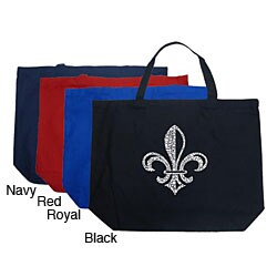 Los Angeles Pop Art Fleur De Lis Large Shopping Tote