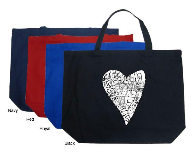 Los Angeles Pop Art Lots of Love Large Shopping Tote