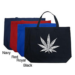 Los Angeles Pop Art Leaf Large Shopping Tote