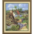 Vincent Van Gogh 'Houses at Auvers, 1890' Framed Art Print