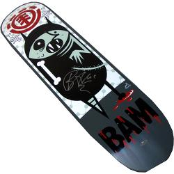 Bam Margera Autographed Element BAM Savage Skateboard Deck