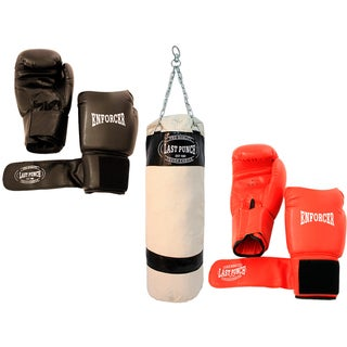 Pro Quality Set of 2 Pairs Boxing Gloves and Punching Bag