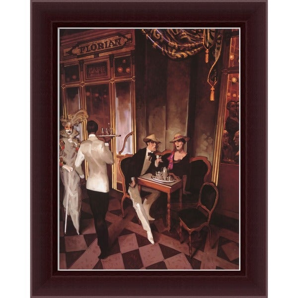 Juarez Machado 'Cafe Florian' Framed Canvas Art