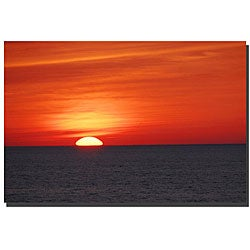Kurt Shaffer 'Great Lake Sunset' Contemporary Canvas Art