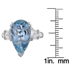 Kabella 18k Gold Aquamarine and 3/8ct TDW Diamond Ring (G-H, VS2-SI1)