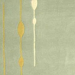 Safavieh Handmade Soho Vines Mint Green New Zealand Wool Rug (8'3 x 11')