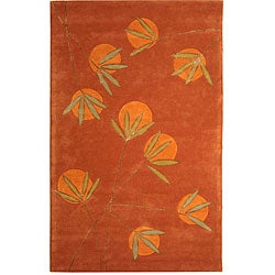 Handmade Soho Summer Rust New Zealand Wool Rug (8'3 x 11')
