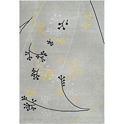 Handmade Soho Golden Vine Grey New Zealand Wool Rug (9'6 x 13'6)