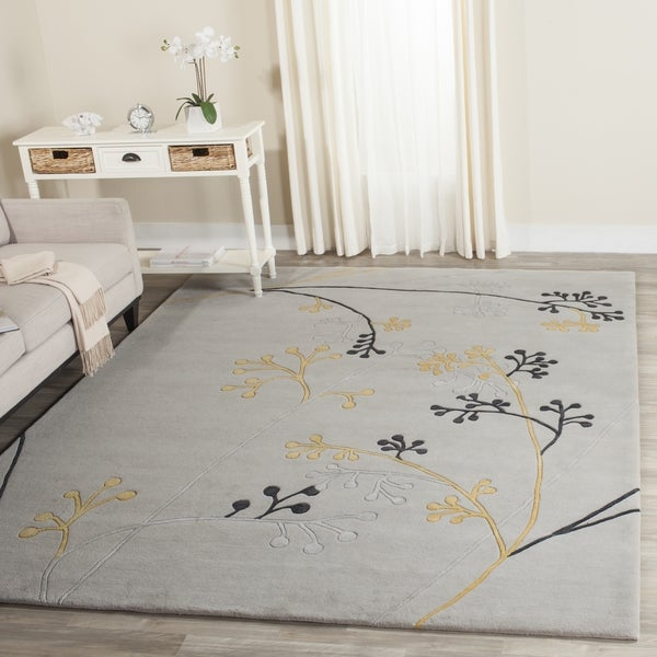 Safavieh Handmade Soho Golden Vine Grey New Zealand Wool Rug (3'6 x 5'6)