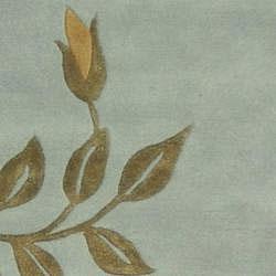 Safavieh Handmade Soho Twigs Light Blue N. Z. Wool Runner (2'6 x 10')