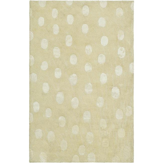 Safavieh Handmade Soho Deco Beige New Zealand Wool Rug (3'6 x 5'6)