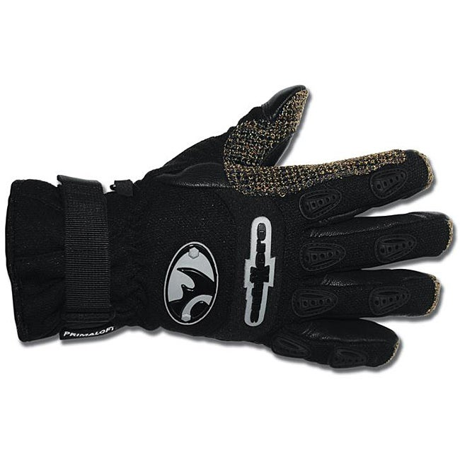Black Rhino SubXero Medium Black Rugged Goatskin and Cordura Gloves