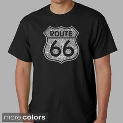 Los Angeles Pop Art Men's Route 66 Cotton T-Shirt