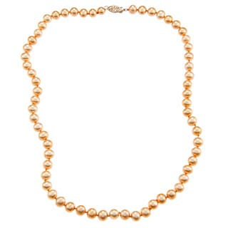 DaVonna 14k 6.5-7mm Gold Freshwater Cultured Pearl Strand Necklace (16-36 inches)