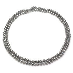 DaVonna Grey FW Pearl 48-inch Endless Necklace (7-7.5 mm)