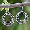Sterling Silver 'Dream Catcher' Dangle Earrings (Thailand)