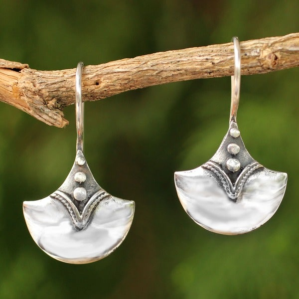 Sterling Silver 'Modern Romantic' Dangle Earrings (Thailand)