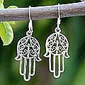 Sterling Silver 'Chimes' Dangle Earrings (Thailand)