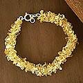 Sterling Silver 'Lemon Sugar' Citrine Beaded Bracelet (India)