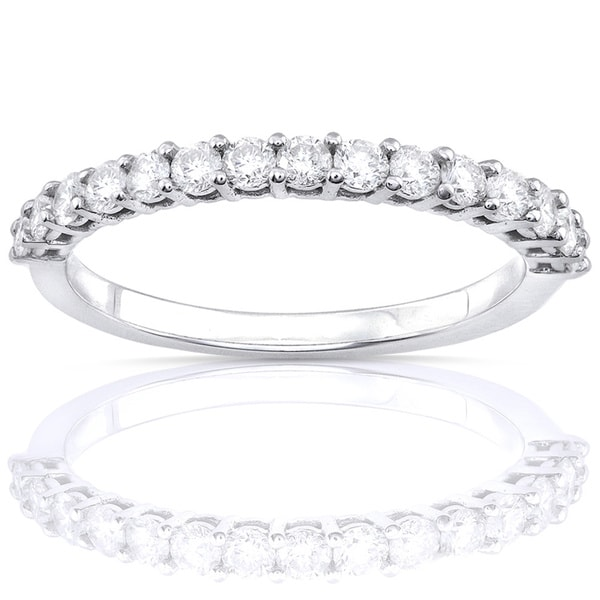 Annello 14k White Gold 1/2ct TDW Diamond Wedding Band (G-H, I1-I2)