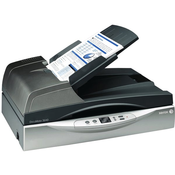 Xerox DocuMate 3640 Flatbed Scanner - 600 dpi Optical