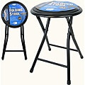 18-inch Black Folding Stools (Set of 2)