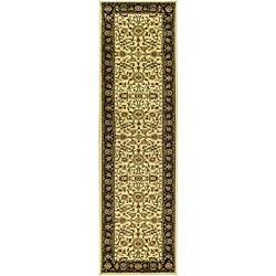 Safavieh Lyndhurst Collection Majestic Ivory/ Black Runner (2'3 x 20')